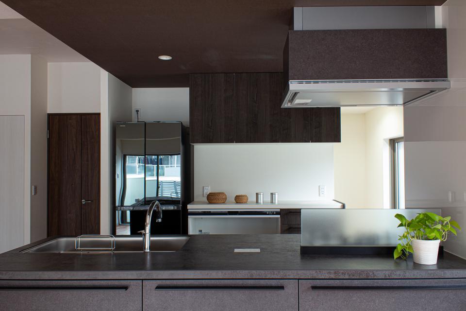 ルーバー天井の家・リノベーションマンションの写真3