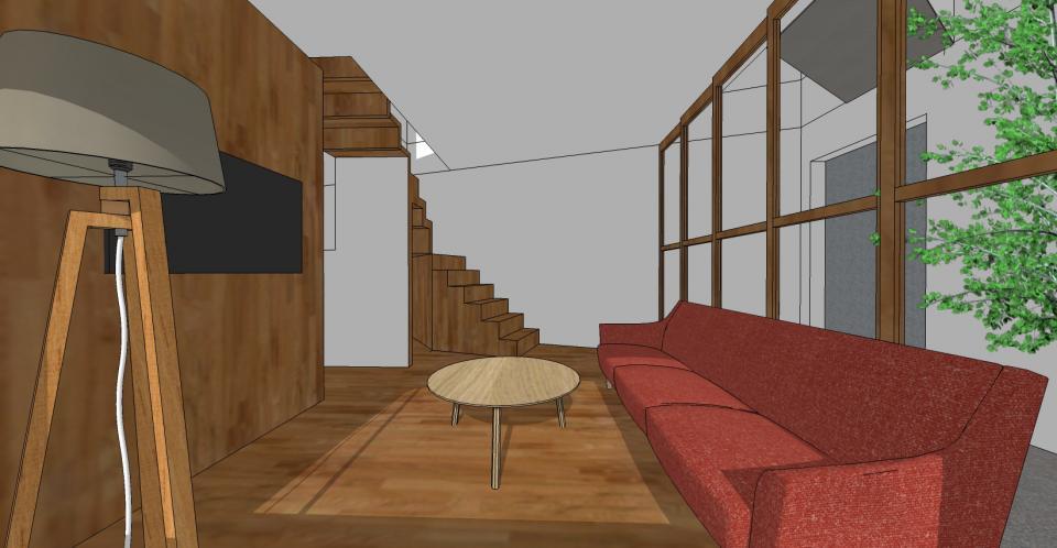 狭小+旗竿敷地のコンパクトハウスの写真1