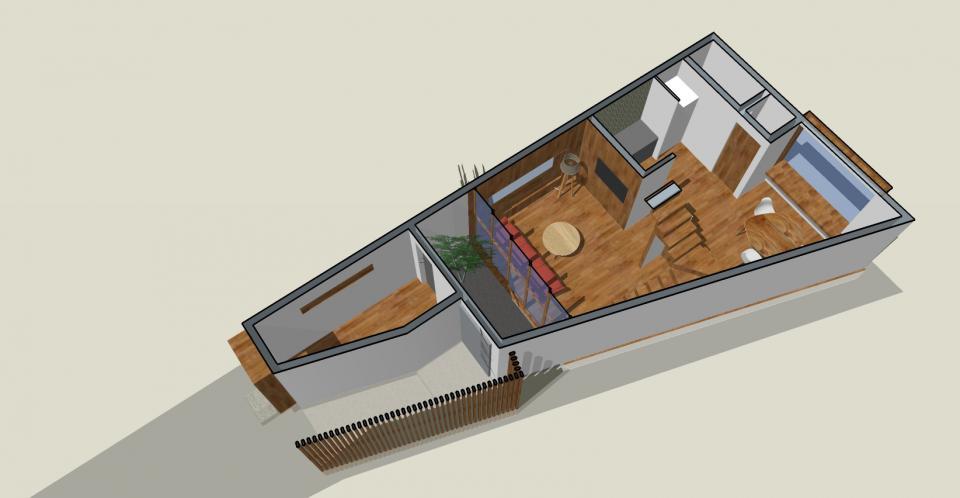 狭小+旗竿敷地のコンパクトハウスの写真2