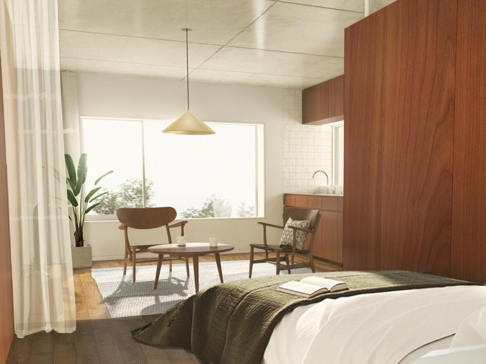自然素材の賃貸マンション 玉川台のアパートメントの写真0