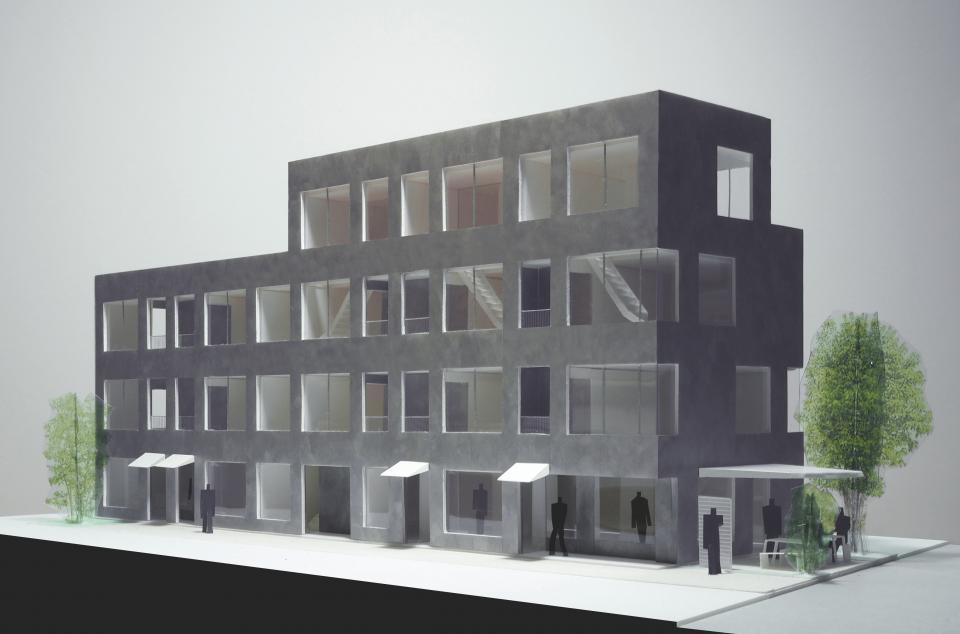 新たな路地空間を生み出す建築 アパートメントMの写真1