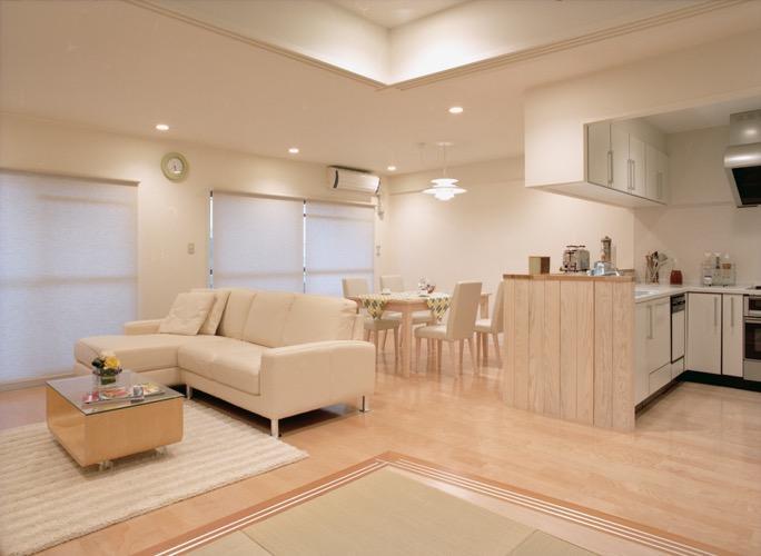 岡崎のマンション -斜めに切り取られた和室が空間の可能性を広げる-の写真0