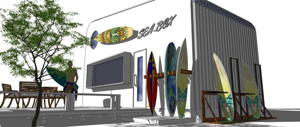 SEA-BOX (キャビン)8坪 サーファーCafe 500万円の写真4