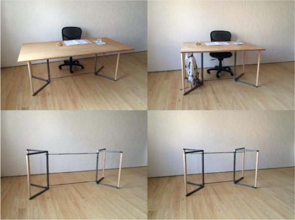 組立て家具(テーブル脚)の写真1