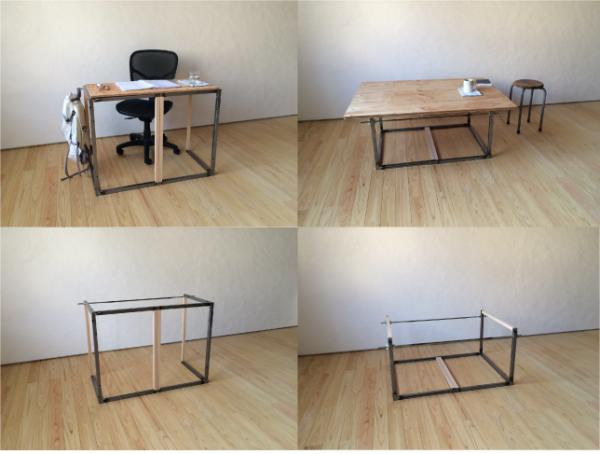 組立て家具(テーブル脚)の写真2