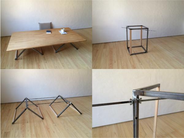 組立て家具(テーブル脚)の写真3