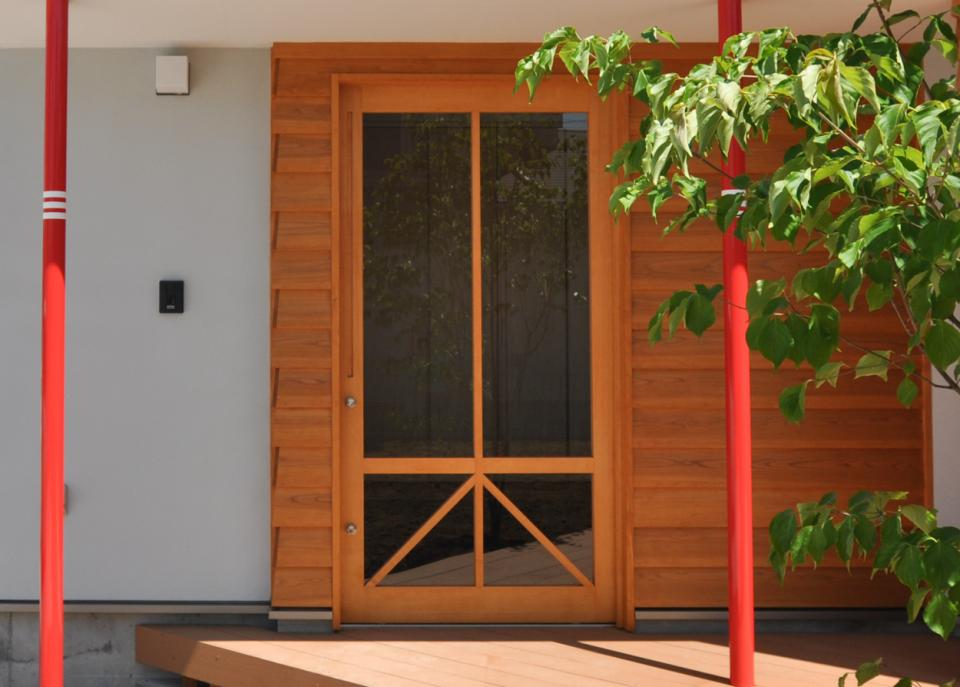 室内と庭空間 敷地を一体化する三角形プランの写真13