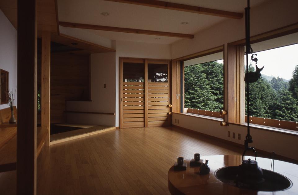 顔振峠 山頂の週末住宅(飯能市)【空と稜線の間で】の写真12