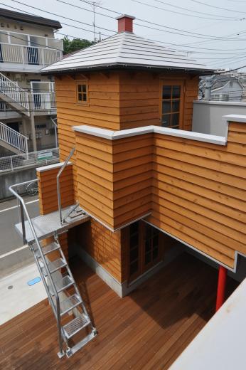 雛壇ステージ&中庭デッキテラスの家の写真15