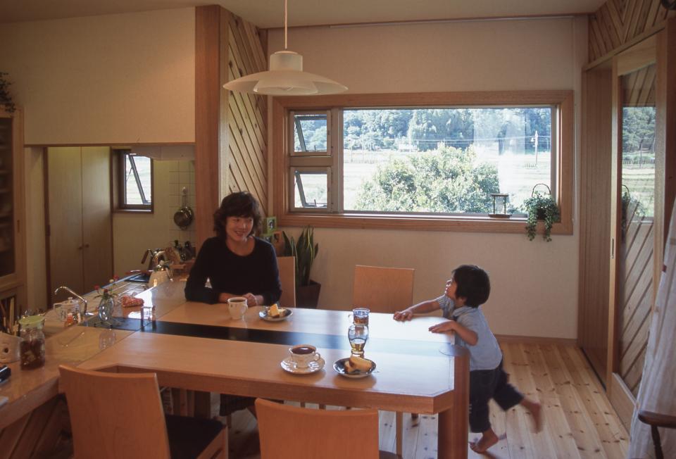 2階リビング&円形バルコニーの2世帯住宅の写真5