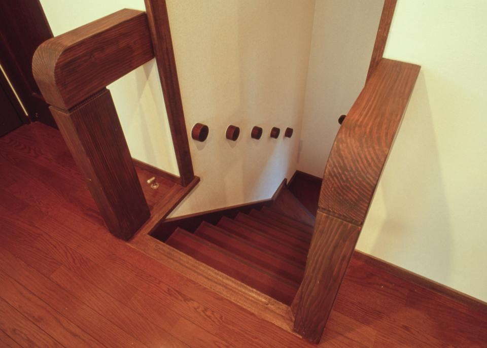 [1F:RC造+2.3F:木造の混構造] 極小3階建て住宅の写真17