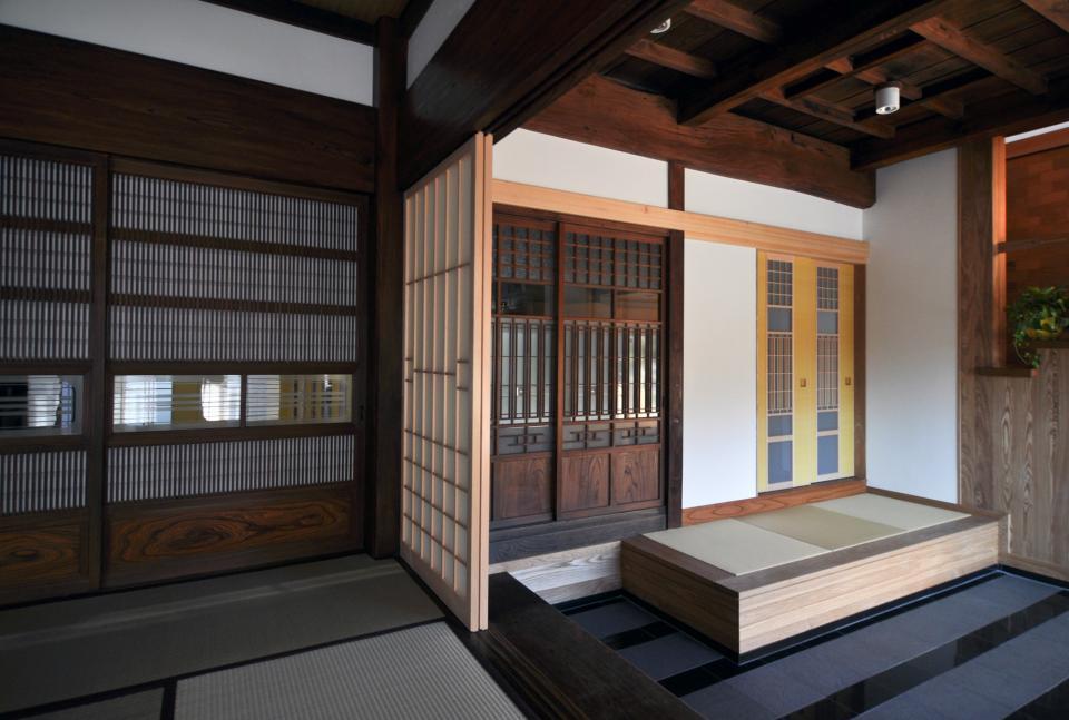 日本家屋の玄関・客間・仏間兼居間・寝室の改修の写真11