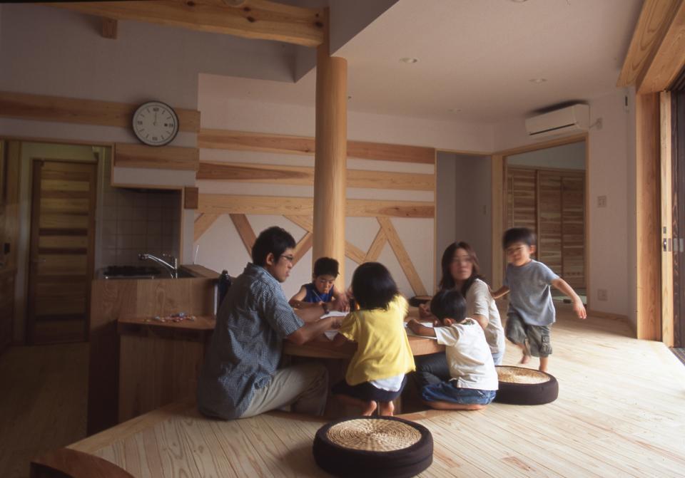 国産無垢材(栗駒材 自然素材)平屋の子育ての写真0