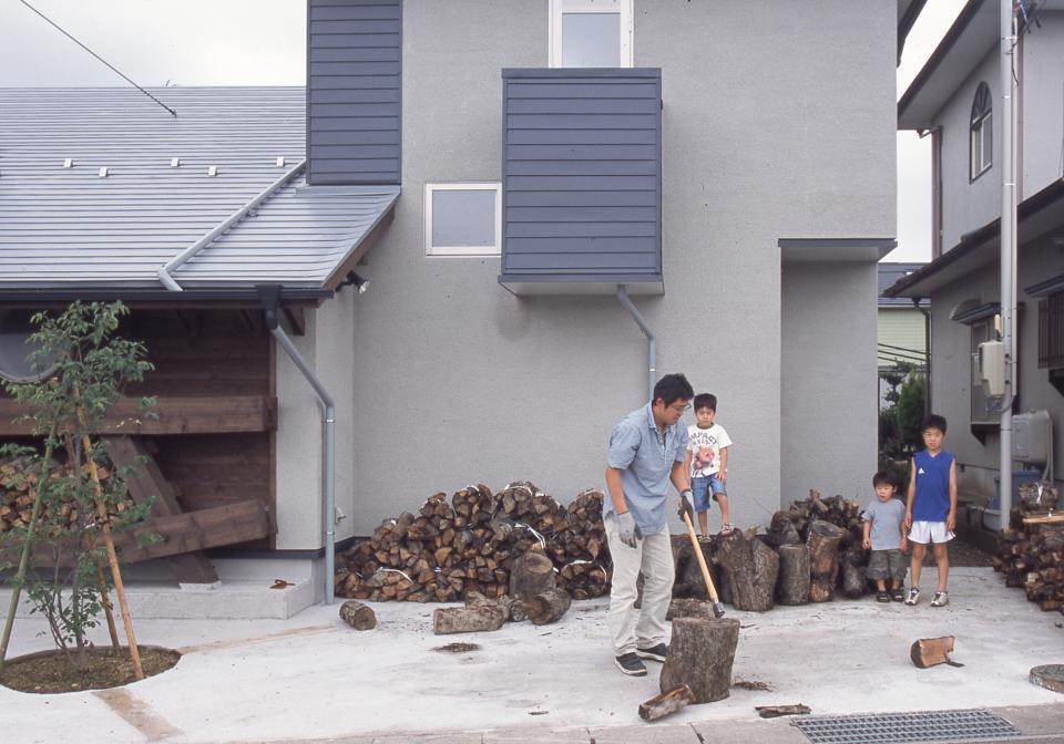 国産無垢材(栗駒材 自然素材)平屋の子育ての写真18