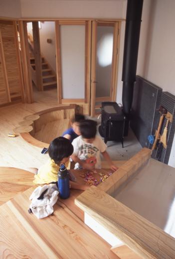 国産無垢材(栗駒材 自然素材)平屋の子育ての写真6