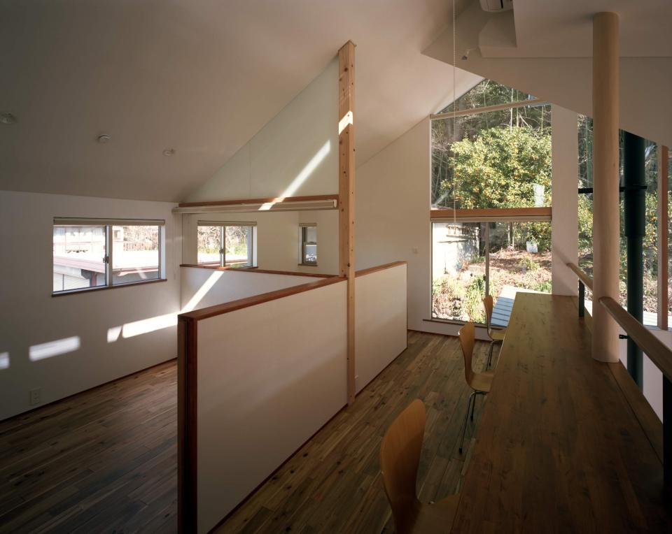 山に向かう家の写真4