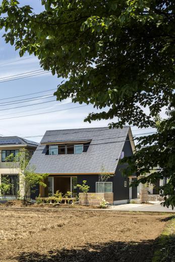 castor/単純な大屋根形状に普遍的な間取りを、立体的断面形状で組み込んでみる。の写真13