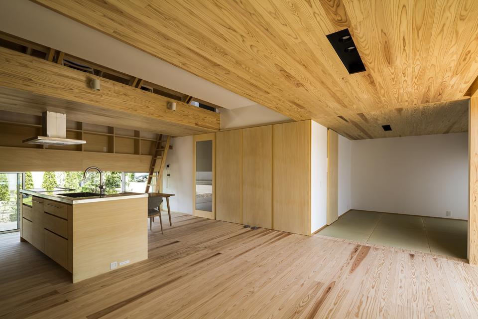 castor/単純な大屋根形状に普遍的な間取りを、立体的断面形状で組み込んでみる。の写真5
