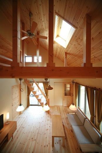 ロフト付き平屋建て住宅 ~天井高さ5.4Mの大空間リビング~の写真3
