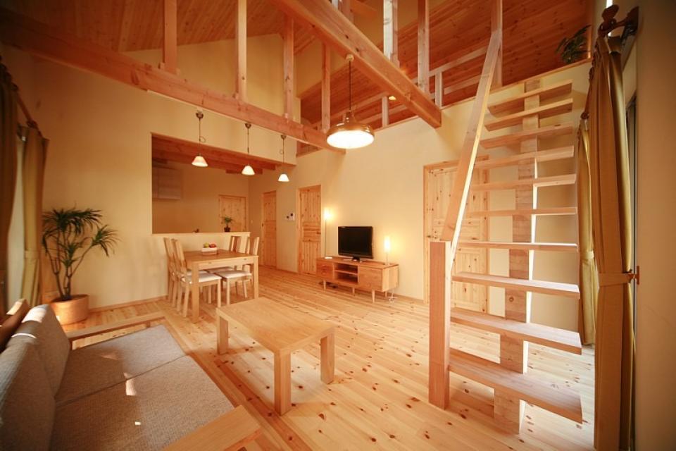 ロフト付き平屋建て住宅 ~天井高さ5.4Mの大空間リビング~の写真4