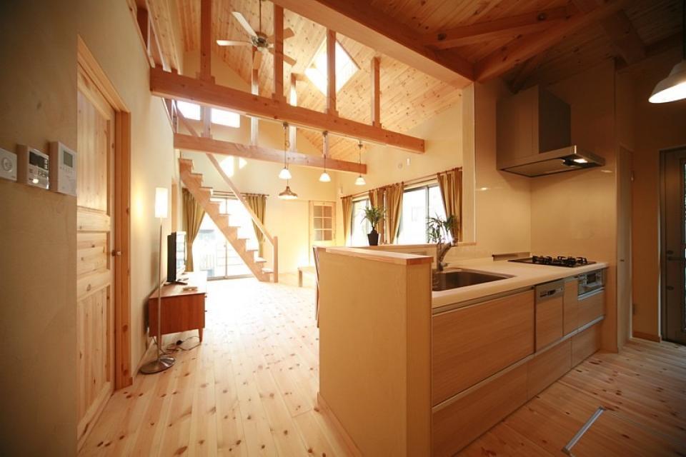 ロフト付き平屋建て住宅 ~天井高さ5.4Mの大空間リビング~の写真5