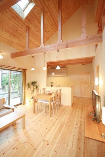 ロフト付き平屋建て住宅 ~天井高さ5.4Mの大空間リビング~の写真6