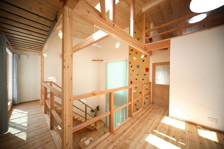 クライミングホールド・ターザンロープ・雲梯・子供がのびのび育つ家の写真5
