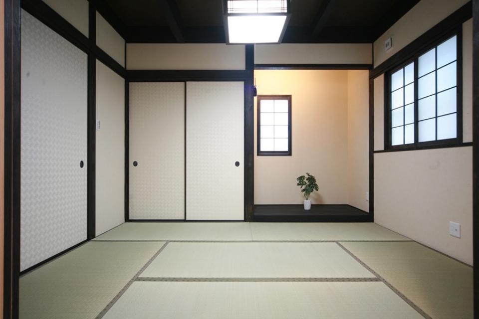 天井高さ7.0Mのリビングと真壁和室がある住まい。の写真9