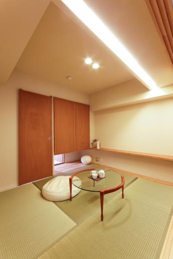 素材と照明で魅せるマンションリフォーム住宅の写真5