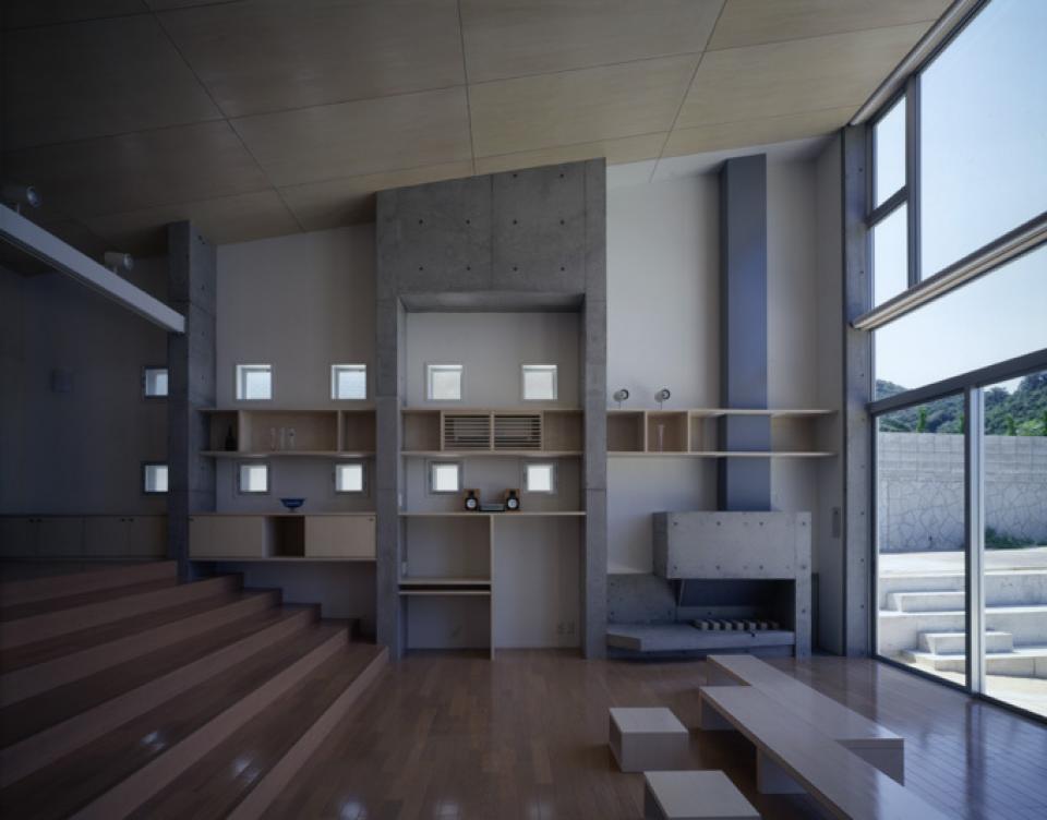 暖炉と大階段のある海辺の別荘 室津・海の家の写真1