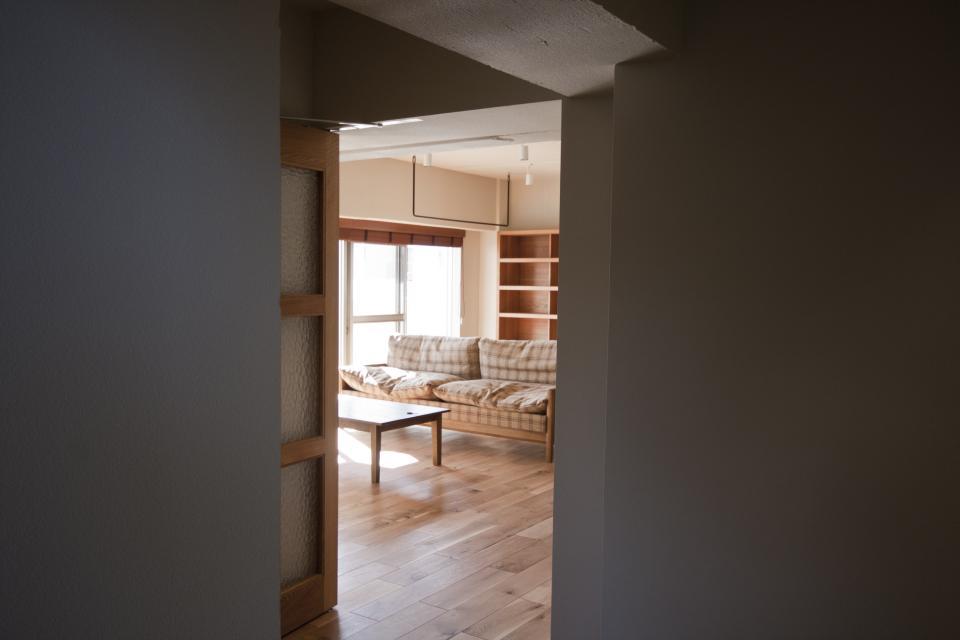 所蔵する本の数が多い家族のマンションのリノベーションの写真1